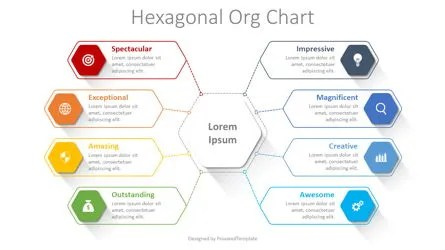 How to create an organizational chart in google docs? Hexagonal Organizational Chart Free Presentation Template For Google Slides And Powerpoint 08343