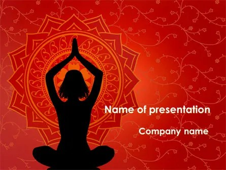 Mindfulness Meditation PowerPoint Template Backgrounds