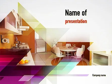kitchen design template eat in sets powerpoint backgrounds 10905 poweredtemplate com
