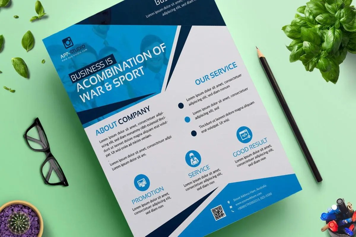 corporate business flyer poster design template vol 04