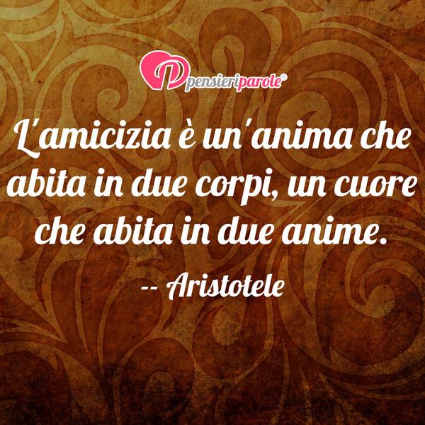 Immagine con frase amicizia di Aristotele  Lamicizia