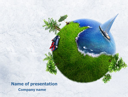 Land and Water Free Presentation Template for PowerPoint