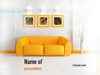 Bright Living Room Presentation Template for PowerPoint ...