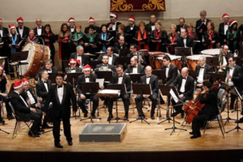 Un momento del concierto de Navidad. Ruben Serralle