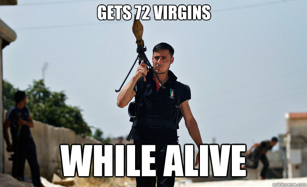 Ridiculously photogenic Syrian rebel is ridiculously photogenic