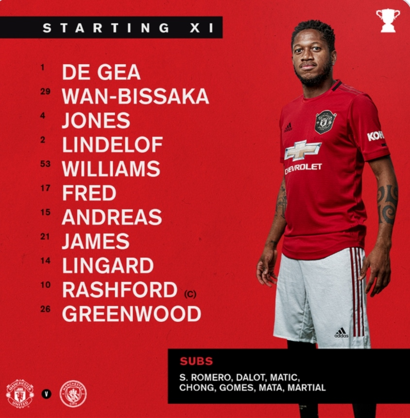 United XI in the Carabao cup : FantasyPL
