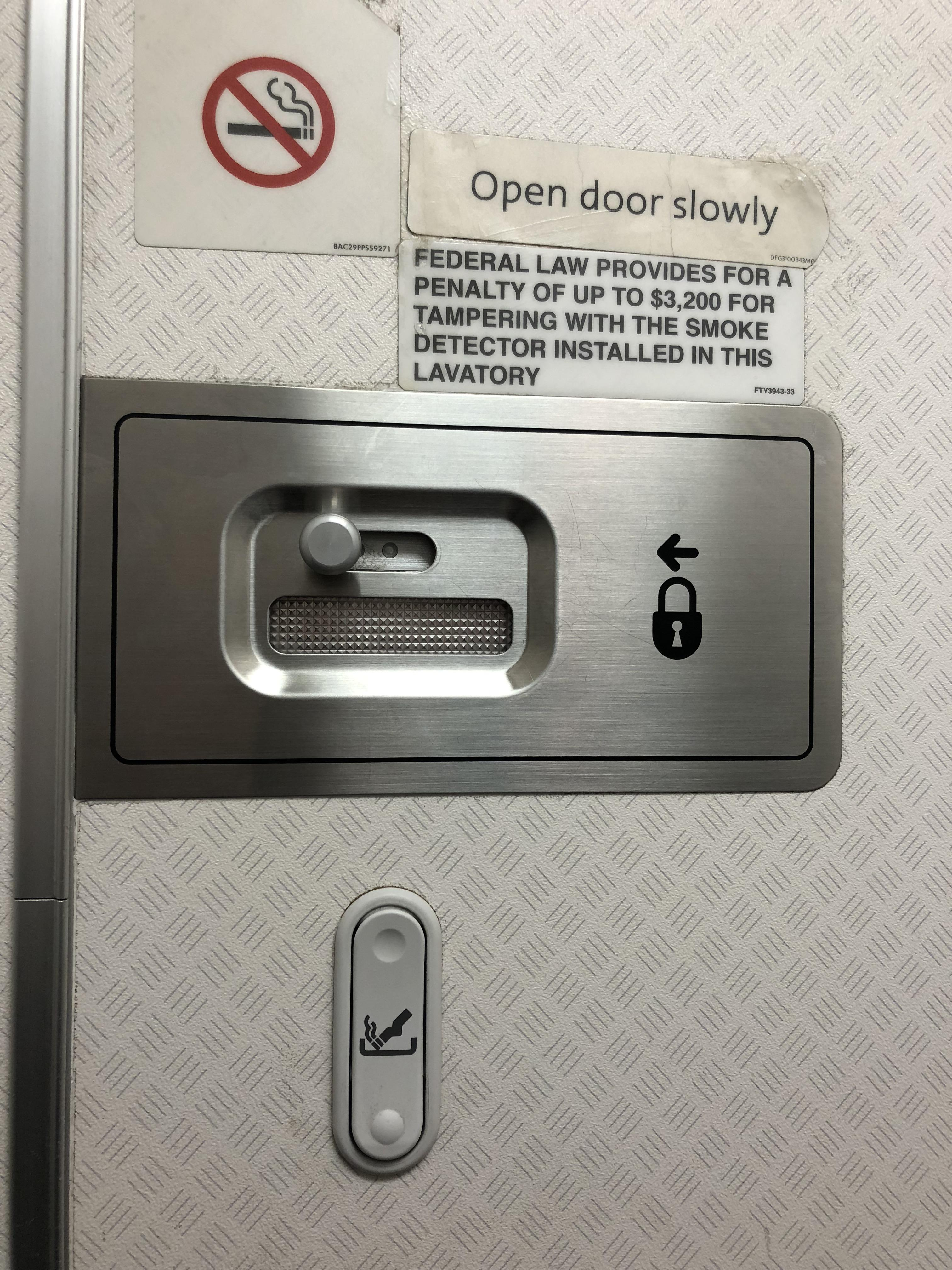 My airplane bathroom has an ashtray in it  mildlyinteresting