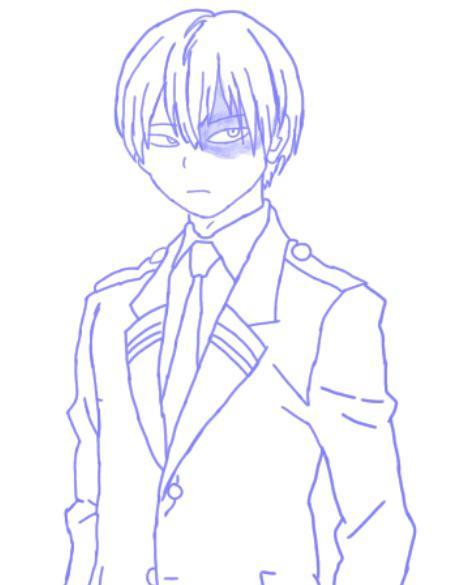 Shoto Todoroki Drawing Easy : shoto, todoroki, drawing, Drawing, Shoto, Todoroki, Academia, Jazza