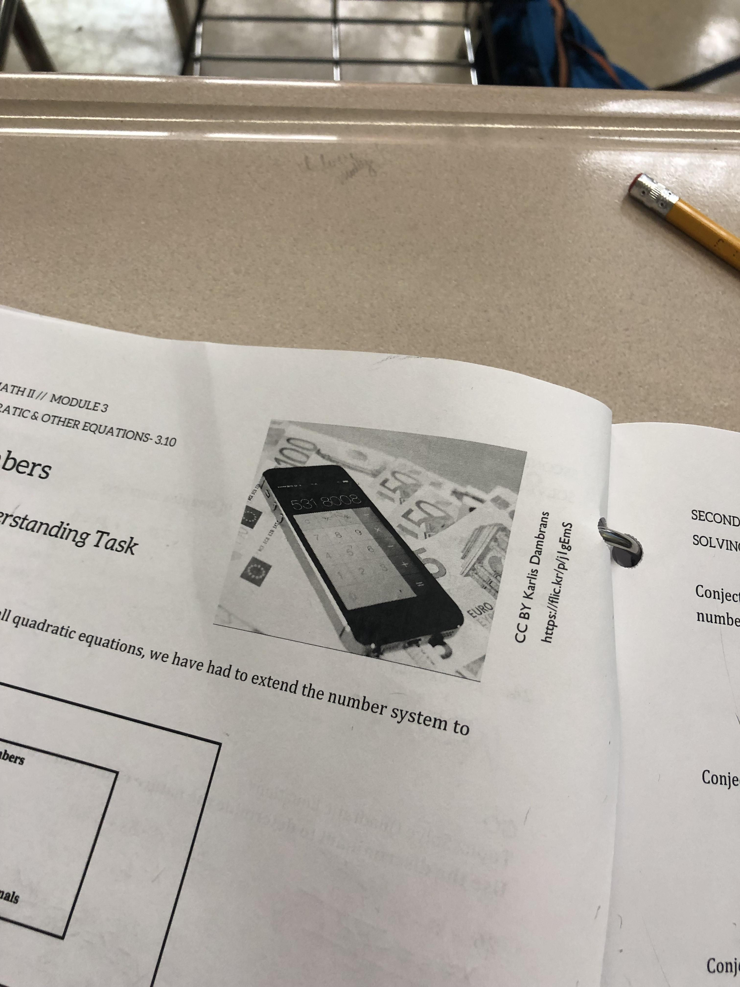 My Highschool Math Common Core Packet Has An Image Of A