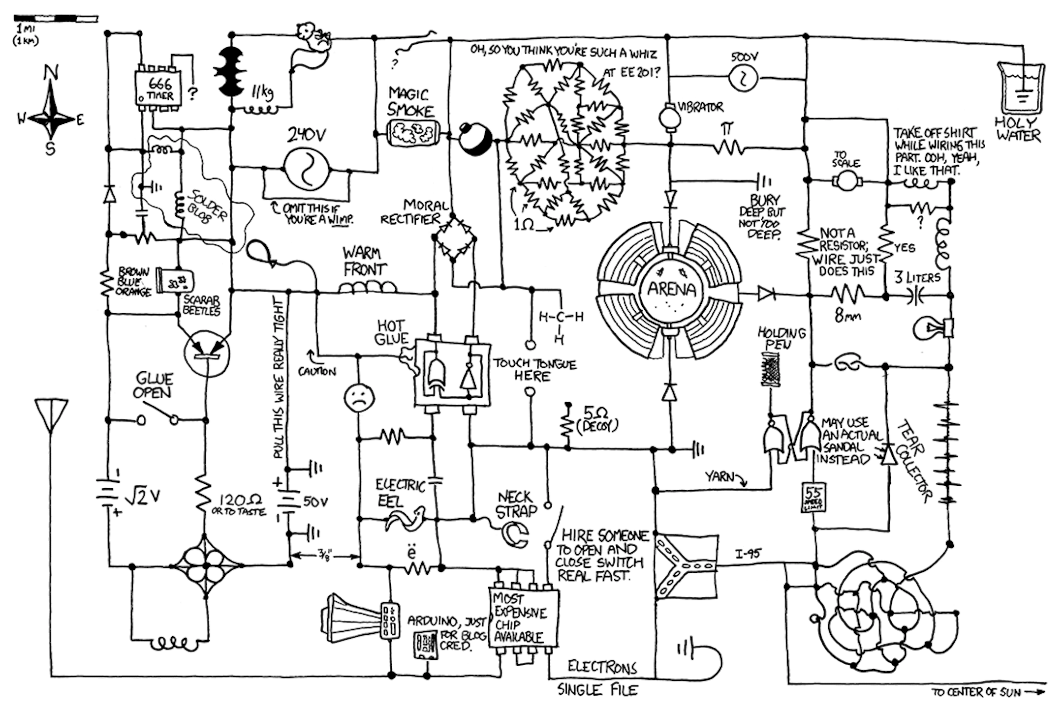 [WRG-0704] Circuit Diagram Joke