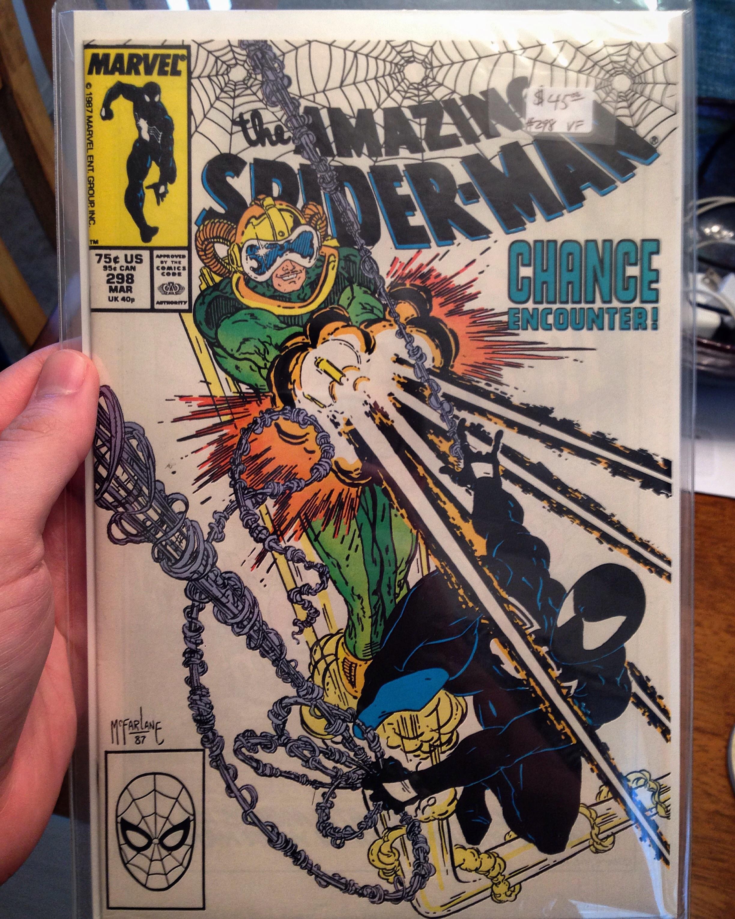 Spiderman 298 : spiderman, Amazing, Spider-Man, #298,, Start, McFarlane's, First, Cameo, Appearance, Venom, Marvel