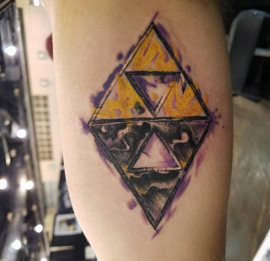 My Link Between Worlds Triforce Tattoo Zelda