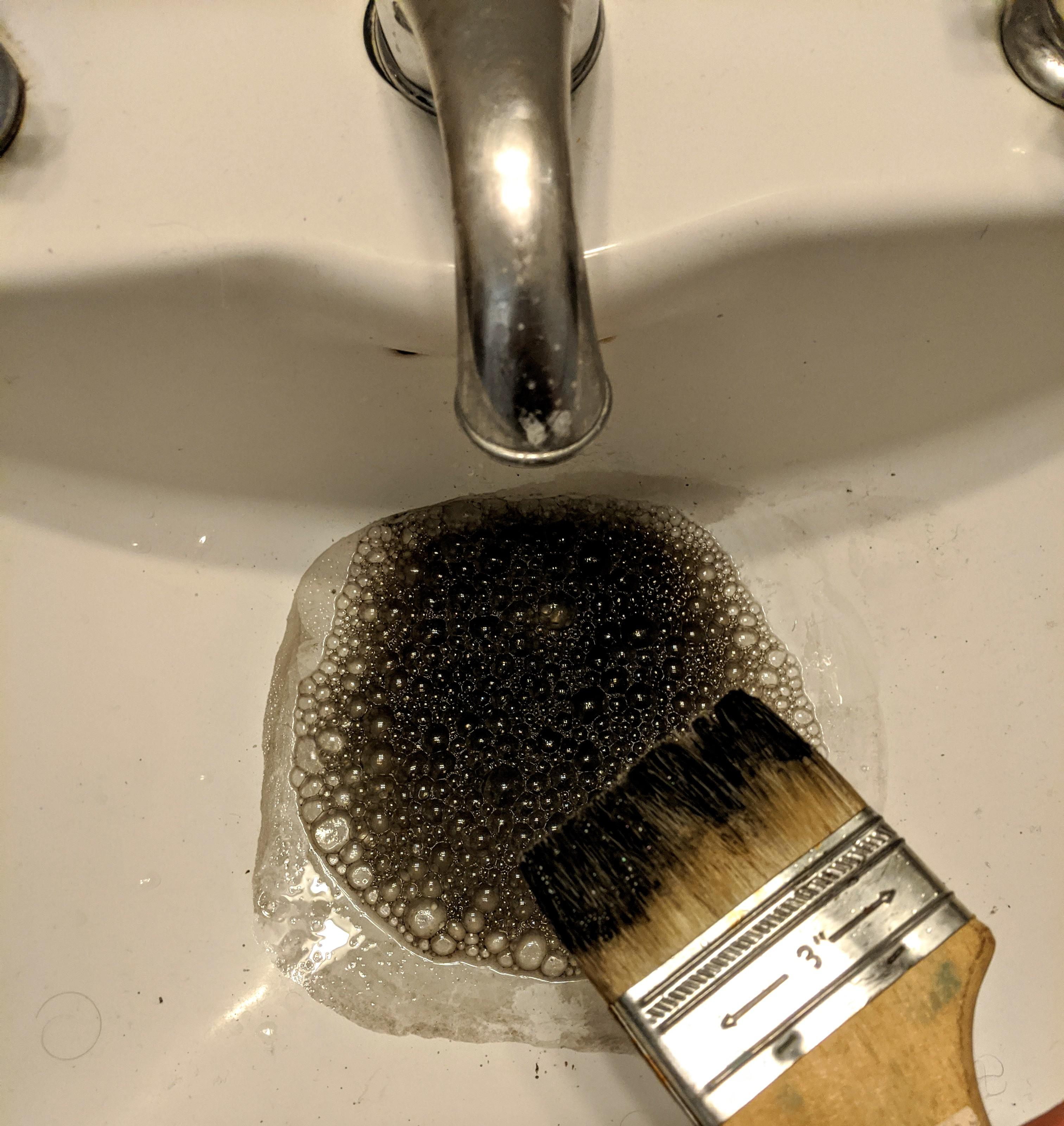 my tap water has turned black because i