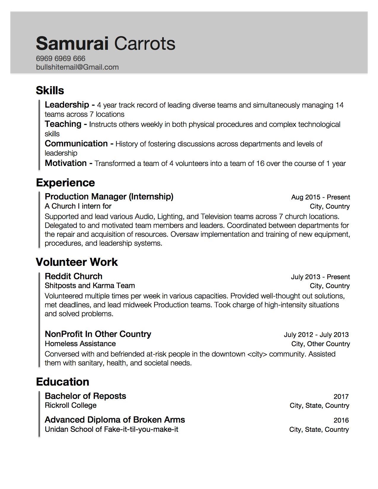 work skills to put on resumes