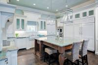 White & Turquoise Coastal Florida Kitchen with Amazonite ...