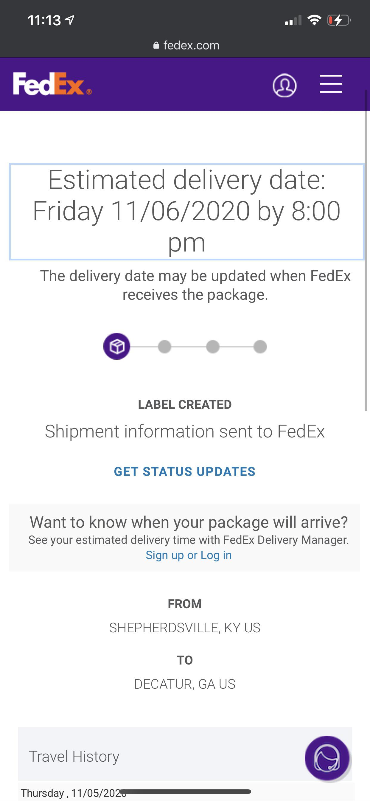 Fedex Label Created But Not Shipped : fedex, label, created, shipped, GameStop, Telling, Package, Fedex, Saying, Never, Received, Chances, Actually, Today, FedEx