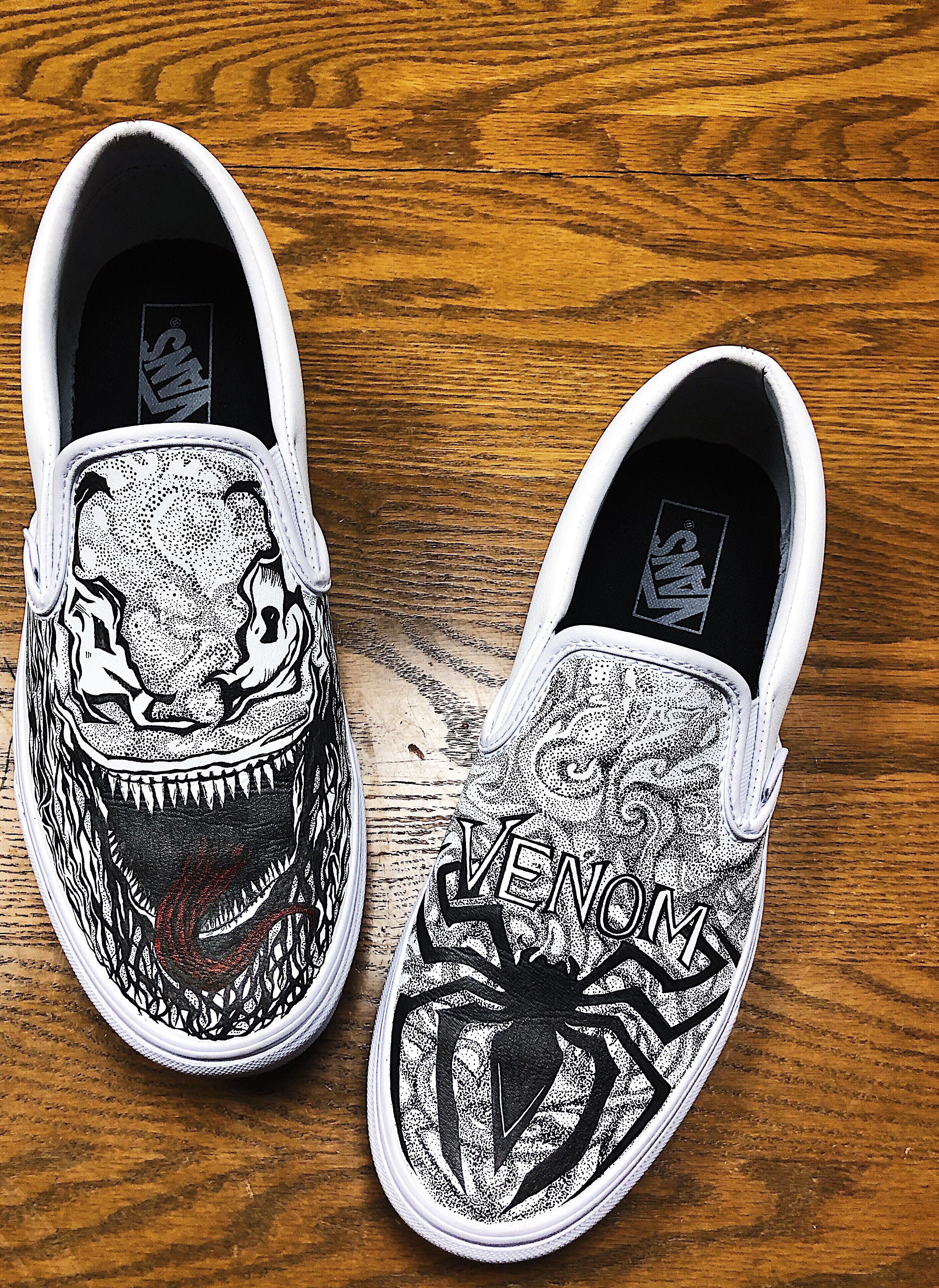 Drawing On Vans : drawing, Finished, Drawing, First, Custom, Vans!, Original, Design, Think.