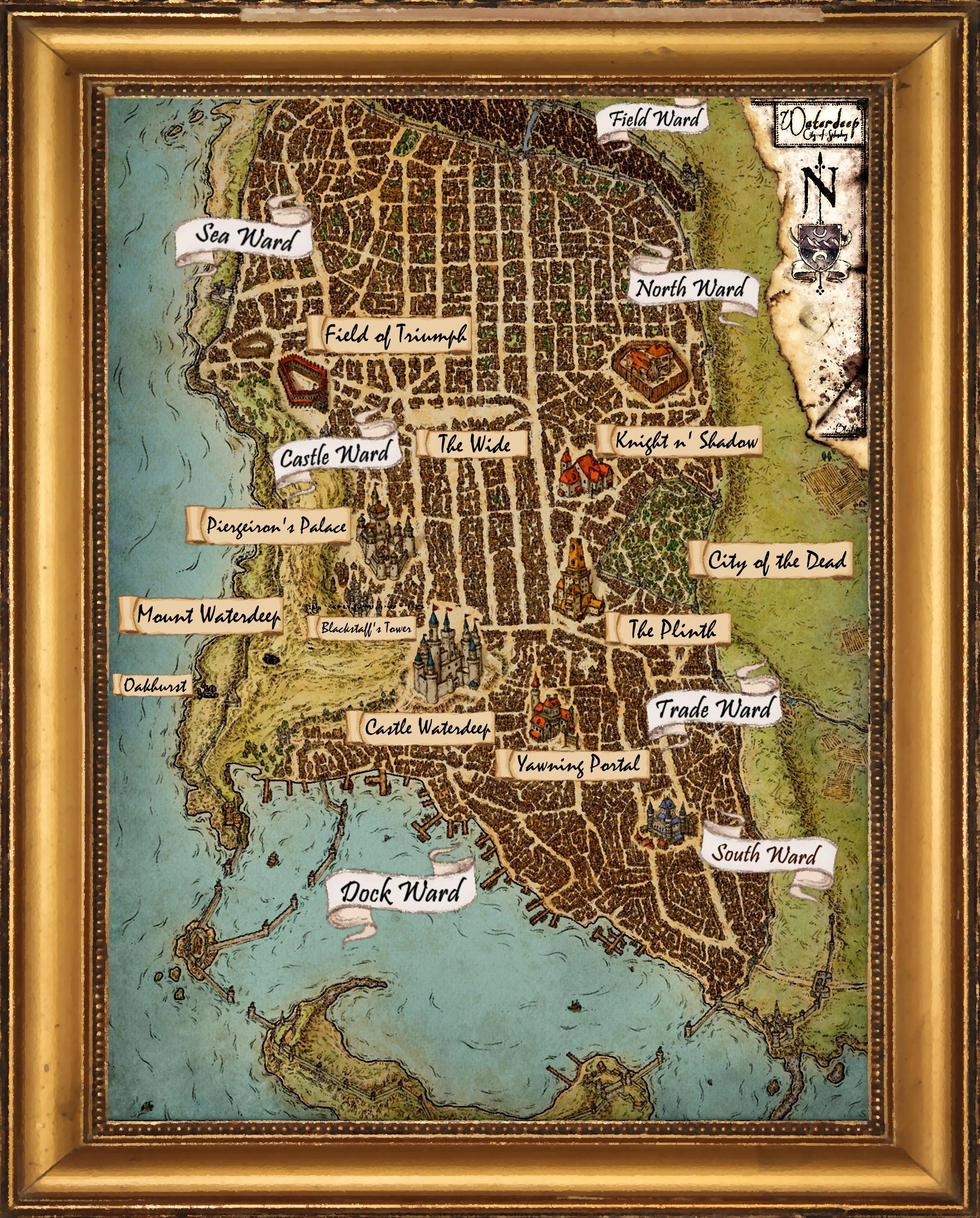Map Of Waterdeep : waterdeep, Waterdeep, TFtYP, Campaign, Dndnext