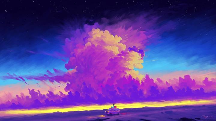 [1920×1080] evening clouds….