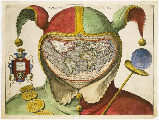 Fool's Cap Map of the World, c1580 [Unknown] : oldmaps