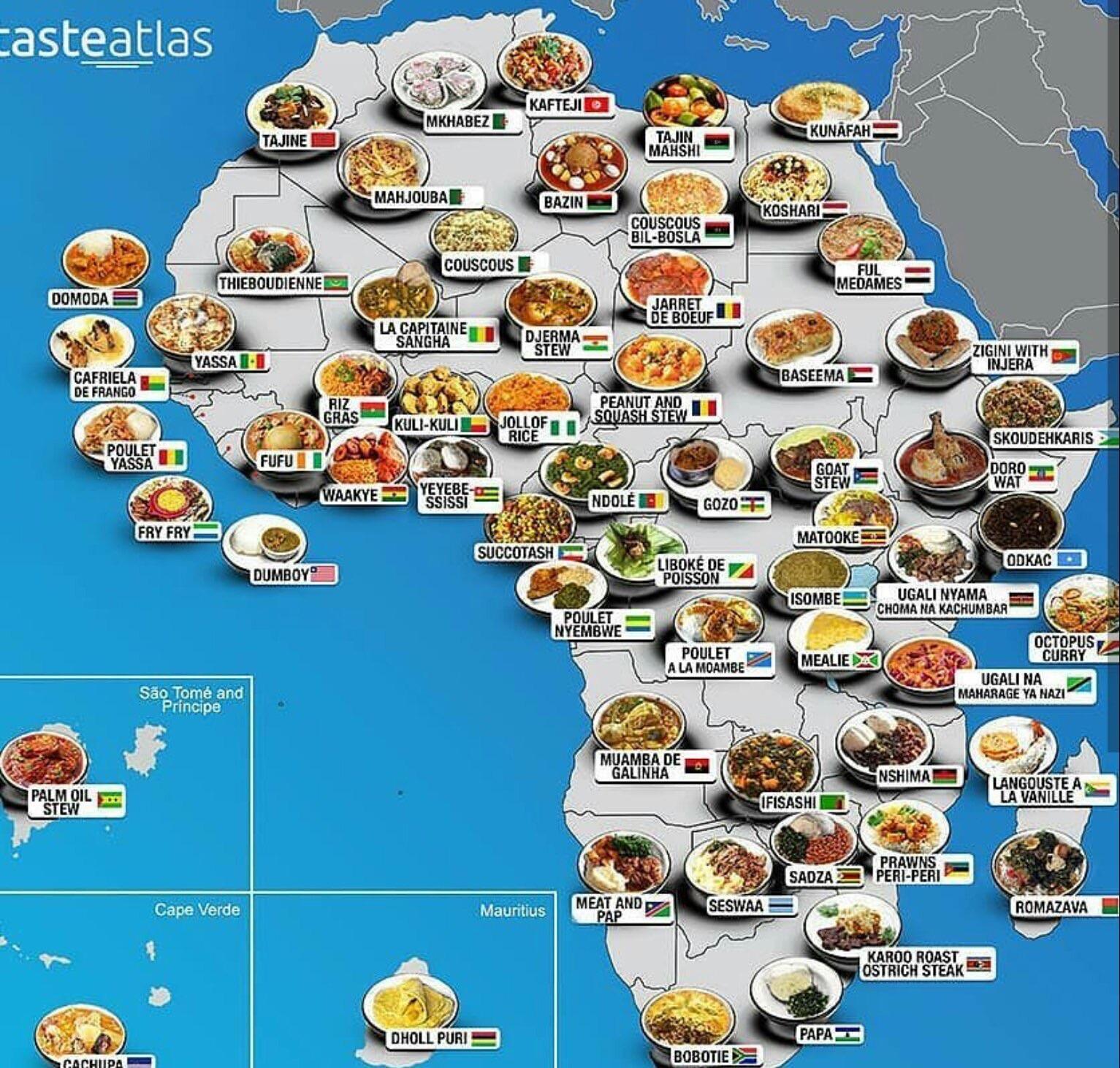 African Cuisine Map Map
