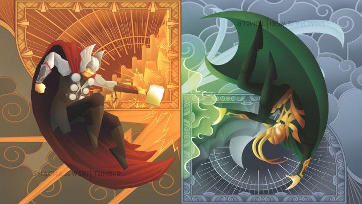 Thor vs Loki [1920×1080]