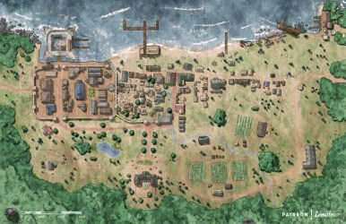Coastal Port Town [OC][Art] : DnD