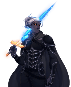 OC][ART] My Half-Drow Paladin of the Raven Queen, Nyx. Courtesy of ...
