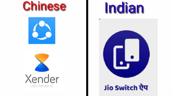 Jio switch against Shareit and Xender : BoycottChina
