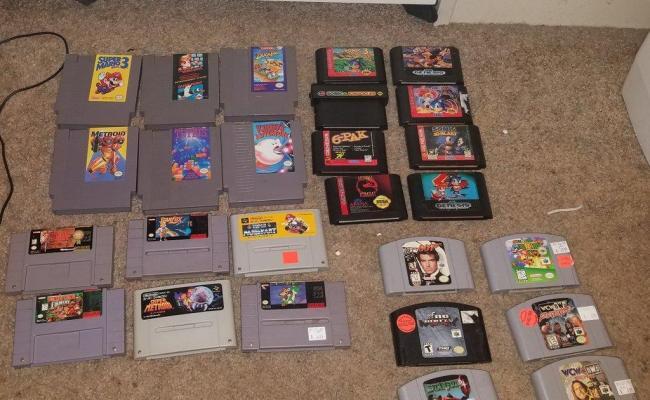 My Cartridge Based Collection Nes Snes Genesis N64