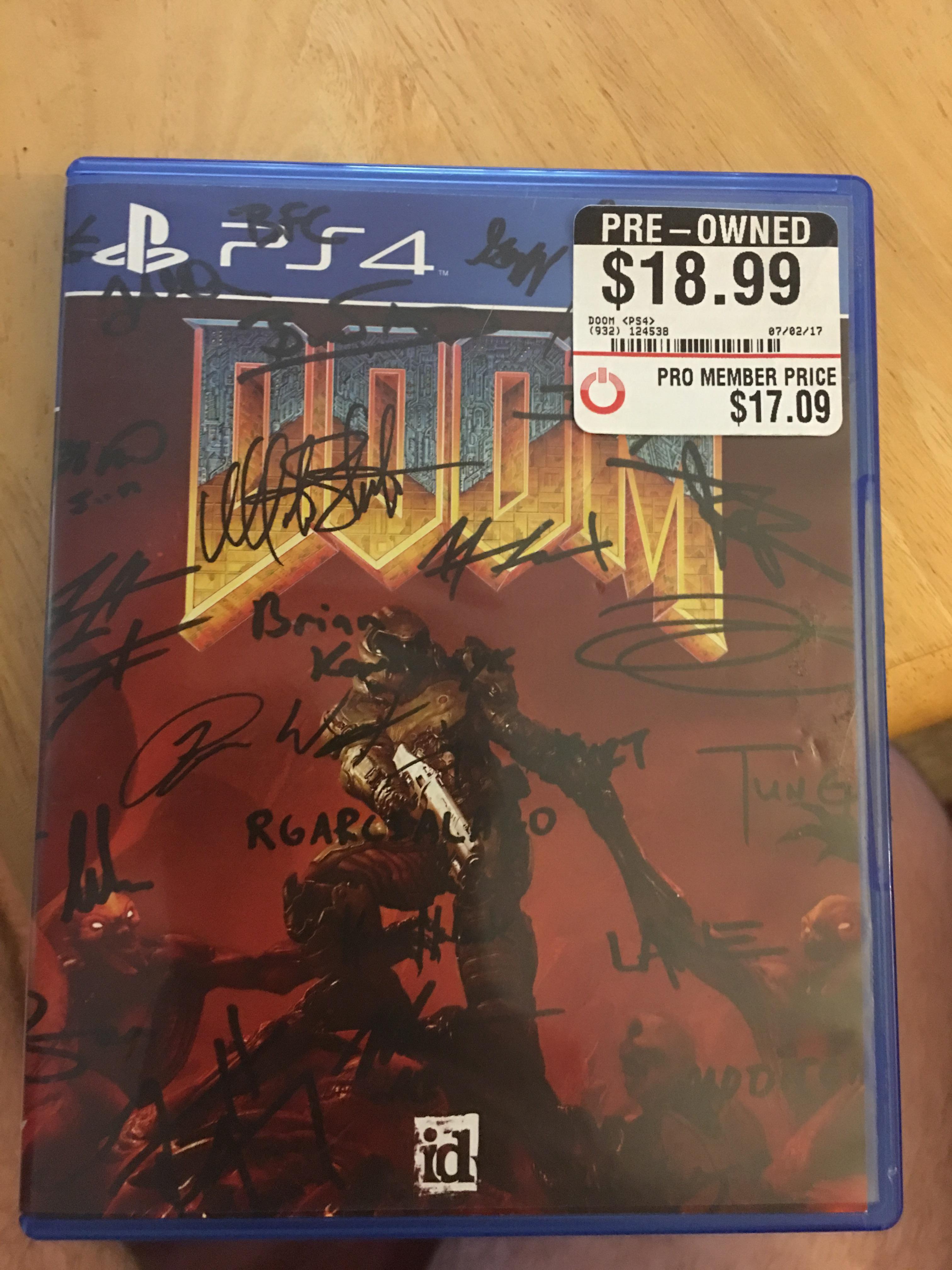 signed copy of doom