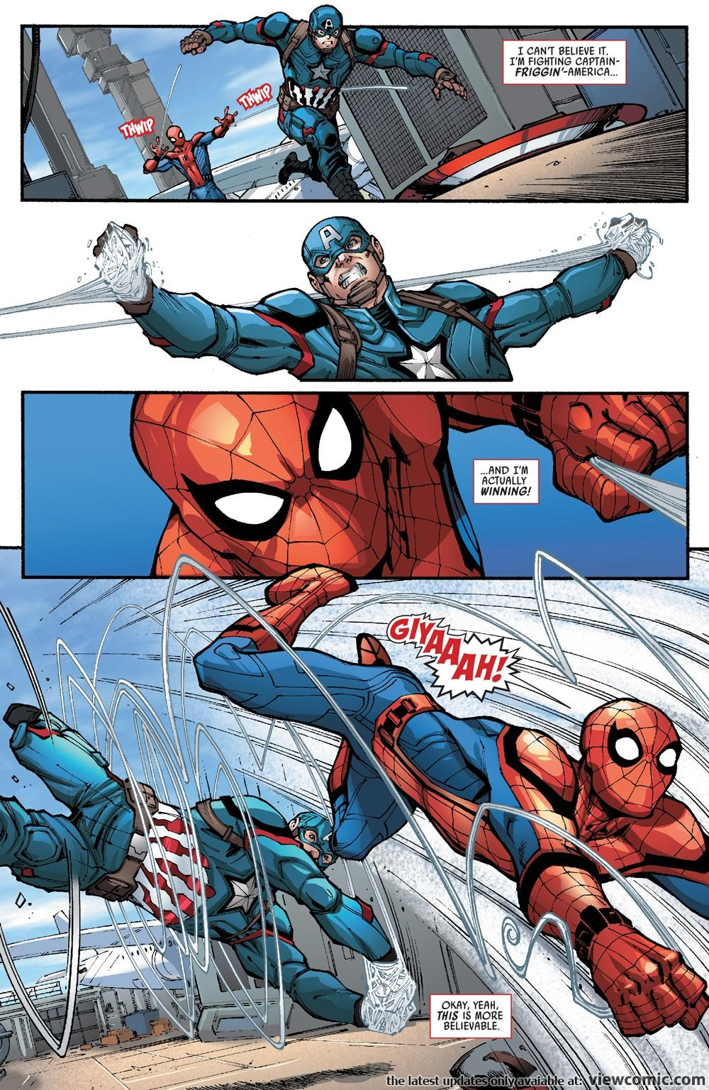 spider man vs captain