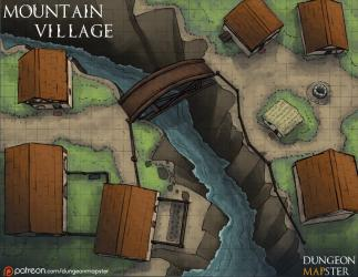 OC] [Art] Mountain Village : DnD