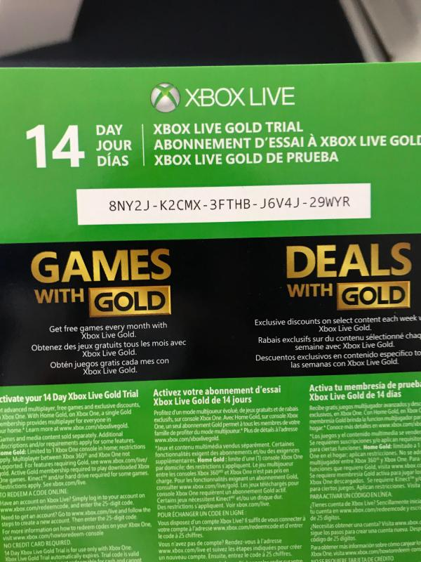 🏆 Free xbox one gold codes 2018 | Free Xbox Live Codes No