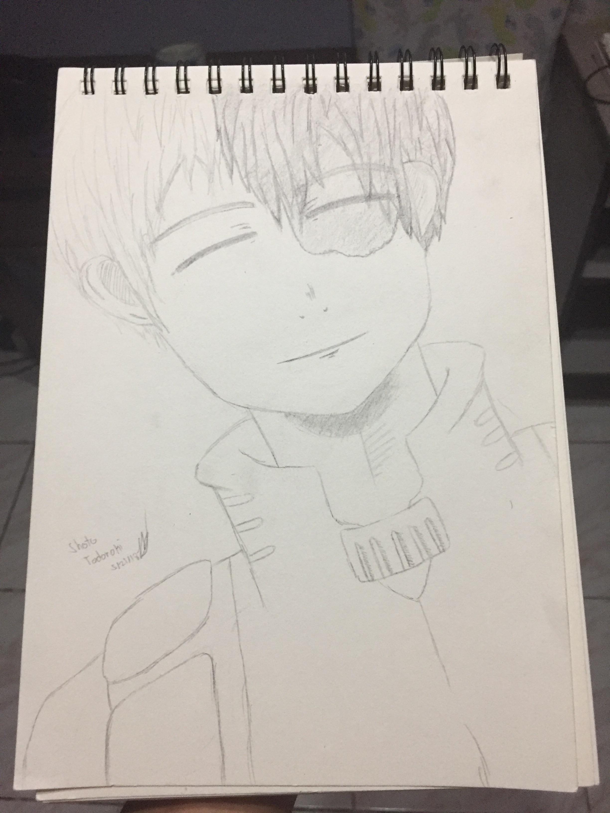Todoroki Drawing Cute : todoroki, drawing, Shoto, Todoroki, Drawing, Where, Smiling, *pretty, BokuNoHeroAcademia