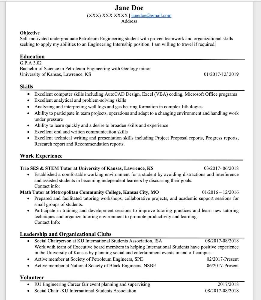 Please help critique my resume Im not getting any luck hearing from recruiters Just trying to