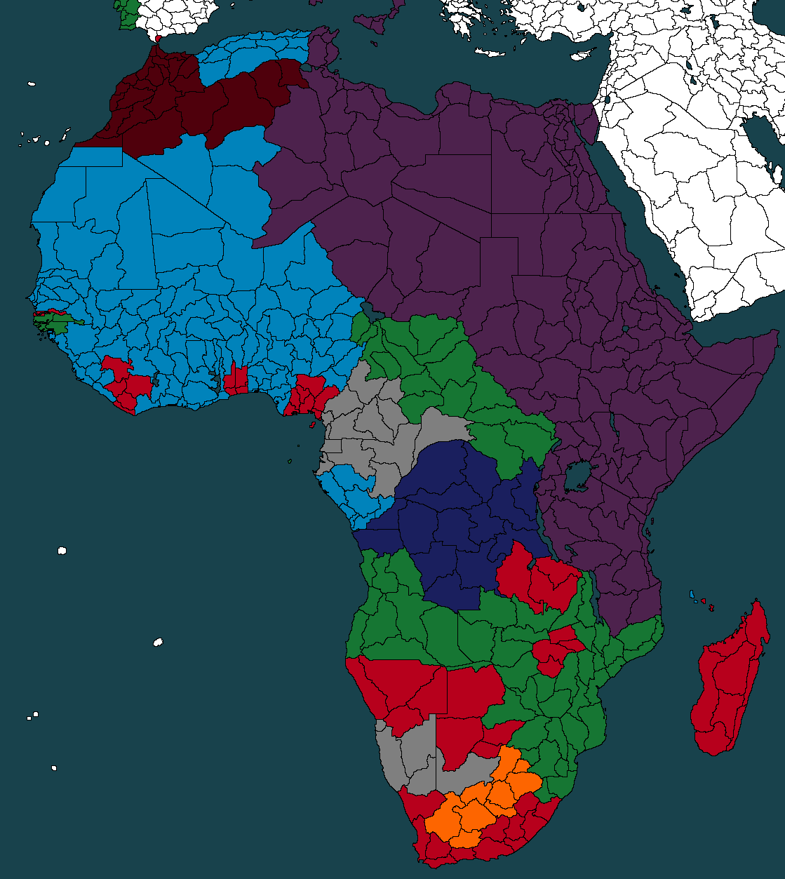 Turn 100 Of My Scramble For Africa Map As Italy Civ