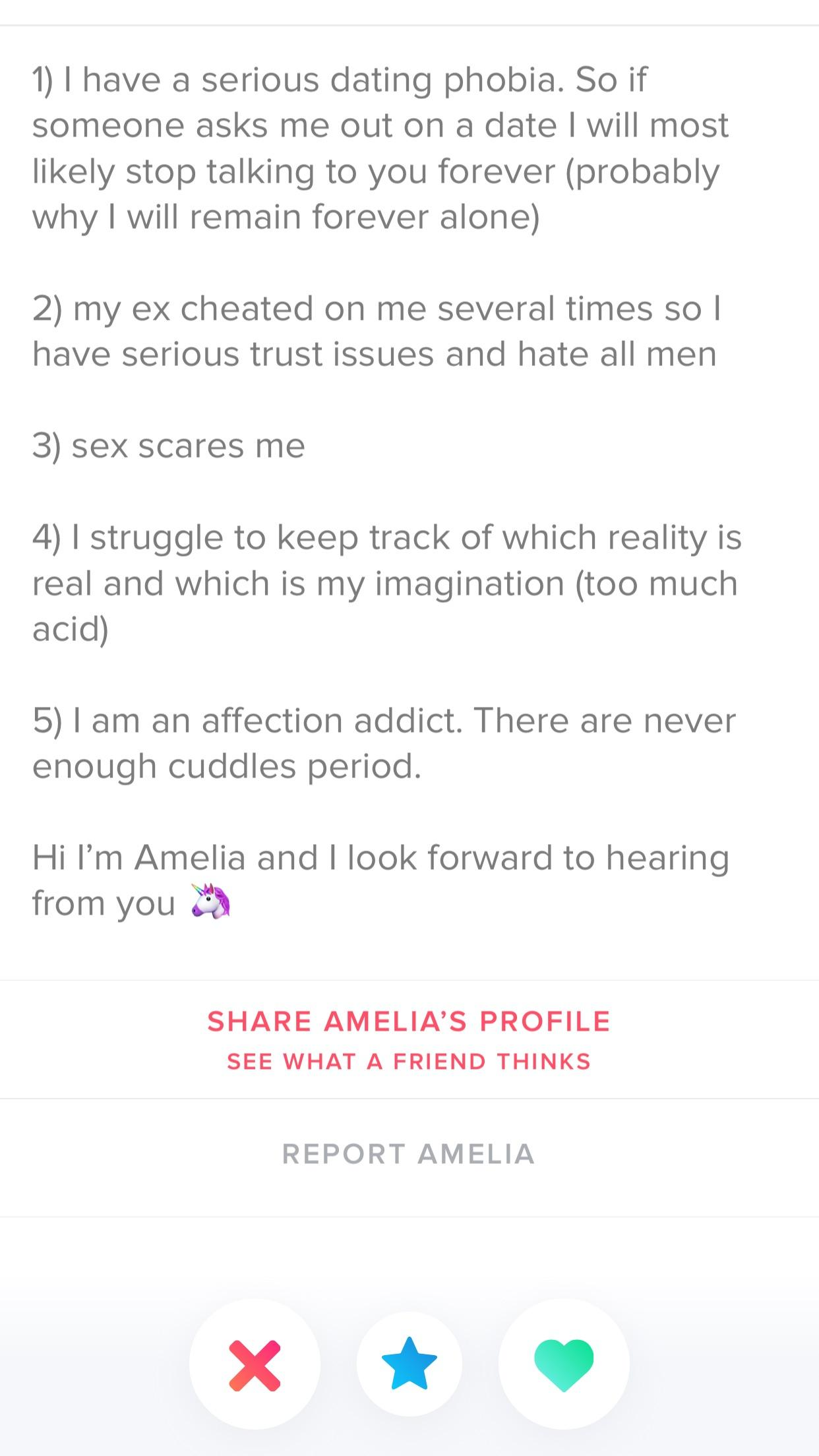 So Tell Me 5 Things About Yourself Tinder