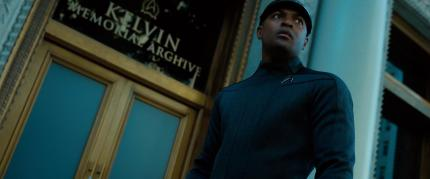 In Star Trek Into Darkness (2013) the attack in London was at the Kelvin Memorial Archive. The archive was named after the U.S.S. Kelvin, the ship captained by Kirk's father and destroyed