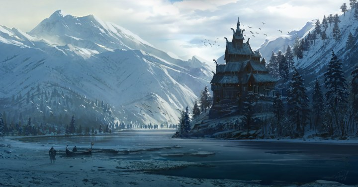 Norse Church: AC Valhalla by Raphael Lacoste