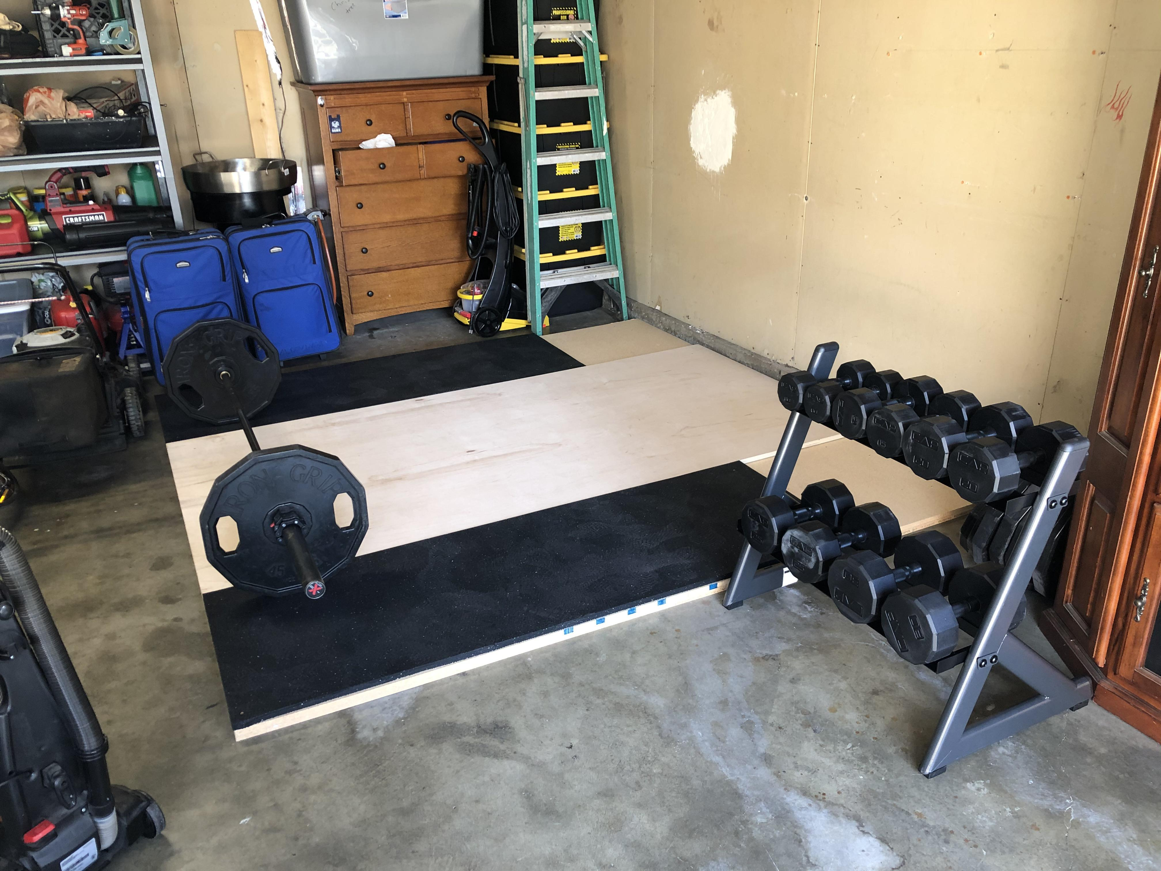 waiting for my titan power rack in the