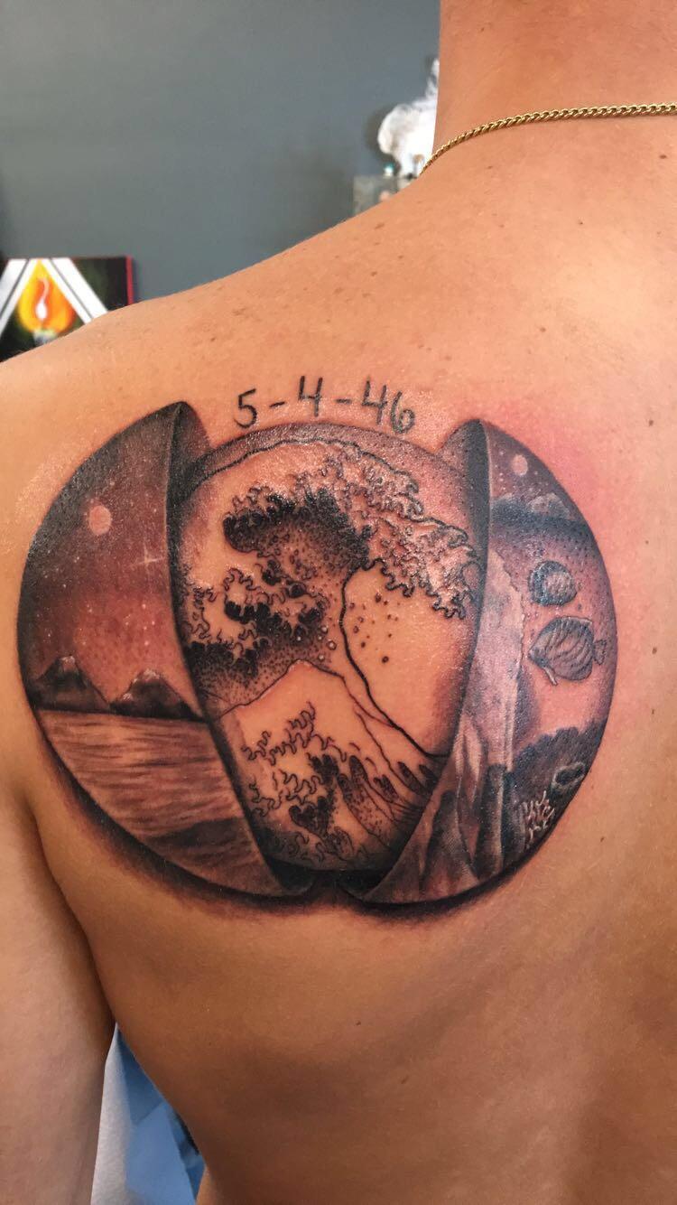 """Liquid Metal Tattoo : liquid, metal, tattoo, Border, Between, Worlds"""", Brandy, Hollowell,, Liquid, Metal, Tattoo,, Point,, Tattoos"""