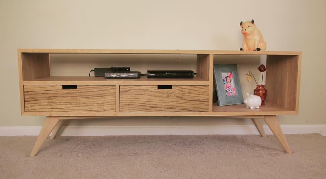 Mid Century Modern Media Console Woodworking