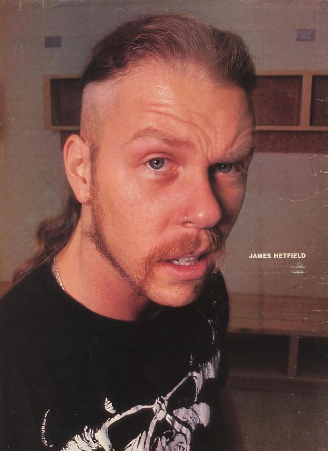 i dream about her everyday: james hetfield's nose ring