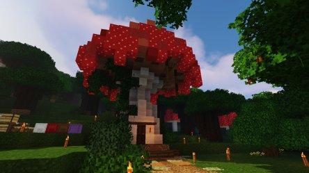 Mushroom house: Start of my enchanted forest village : Minecraft