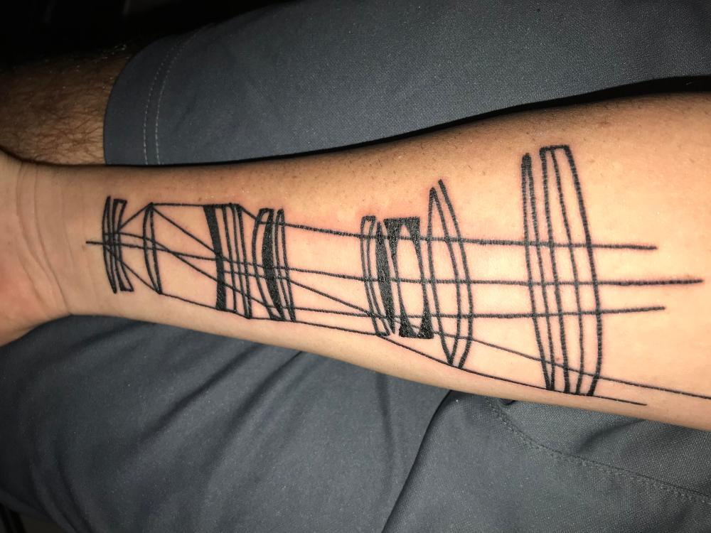 medium resolution of diagram of light traveling through lens elements michael at homesick tattoos orlando