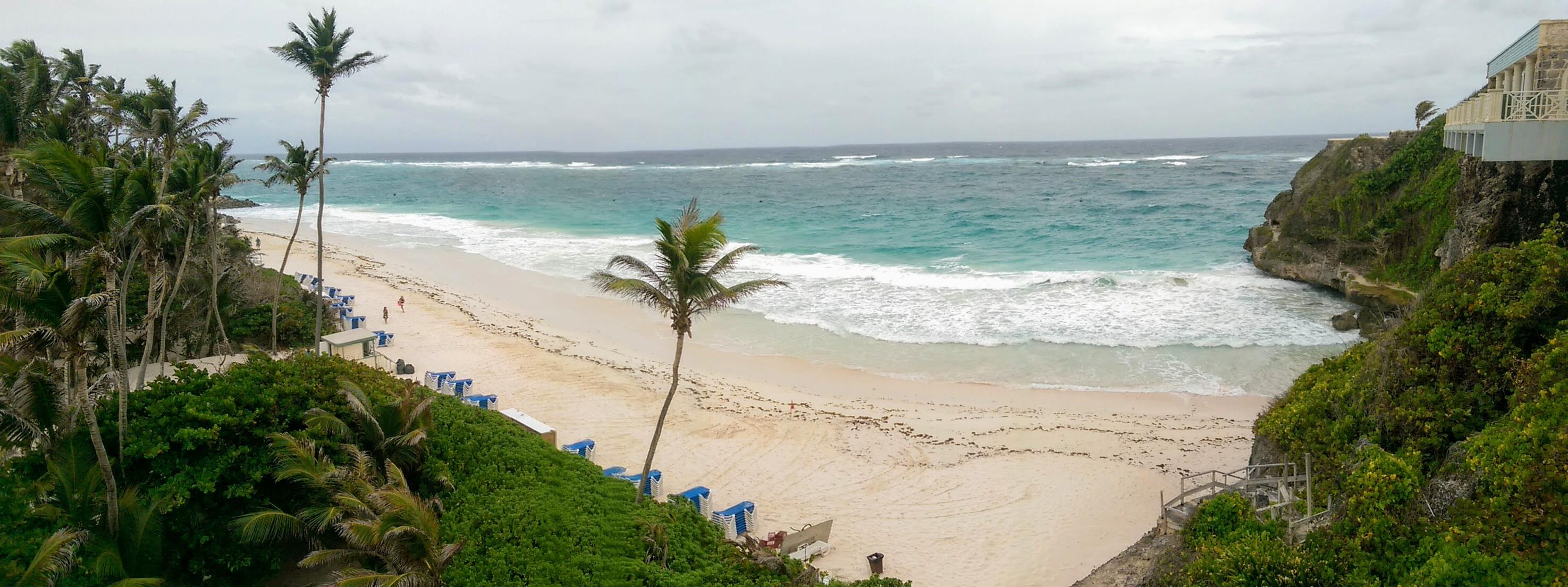 crane beach panorama barbados