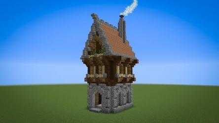 1 chunk fantasy house : Minecraft