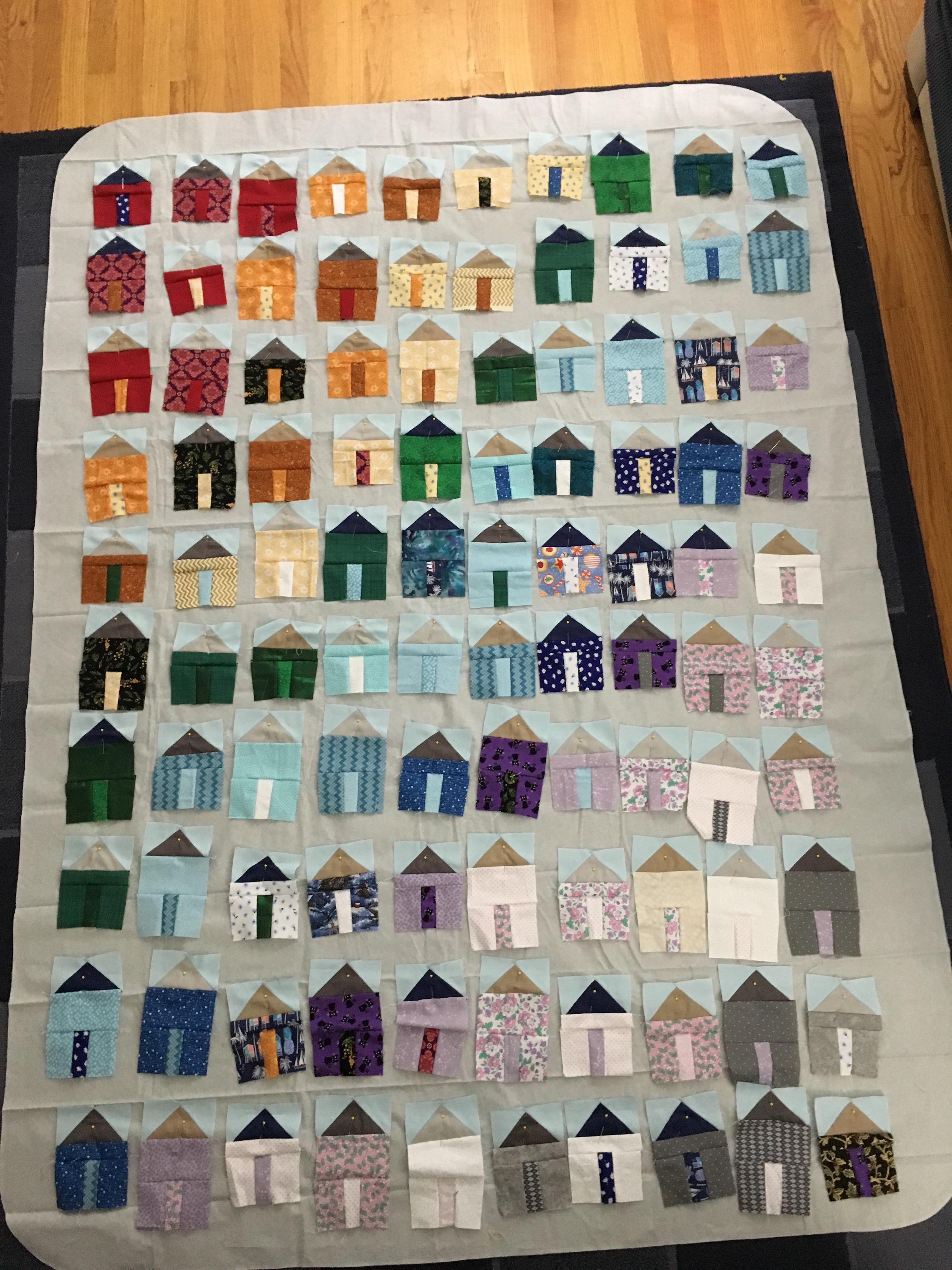Tiny Houses Quilt Pattern : houses, quilt, pattern, Working, House, Quilt, Scraps, First, Months, Quilting., Stage, Project, Today!, Quilting
