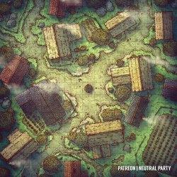 OC][Art] Village Square Battlemap : DnD